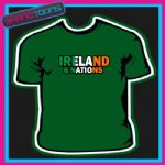 IRELAND 6 NATIONS RUGBY TSHIRT CHILDS LADIES MENS SIZES